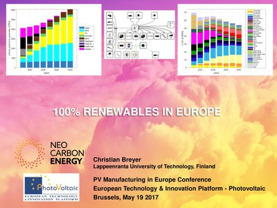100 % Renewables in Europe