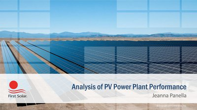 Analysis of PV Power Plant Performance