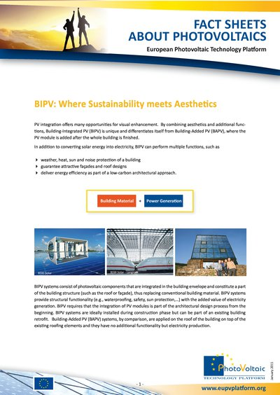 BUILDING-INTEGRATED PV – WHERE SUSTAINABILITY MEETS AESTHETICS (January 2015)