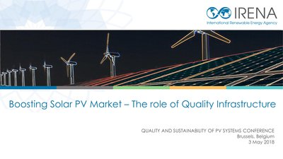Boosting Solar PV Market – The role of Quality Infrastructure