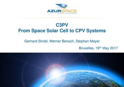 C3PV – From Space Solar Cells to CPV Systems