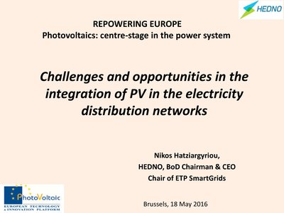 Challenges and opportunities in the integration of PV in the electricity distribution networks