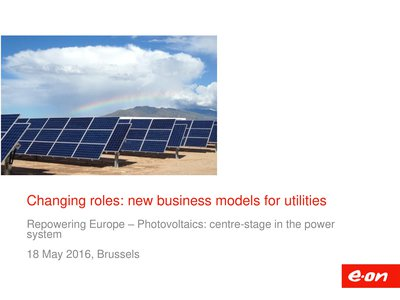 Changing roles: new business models for utilities