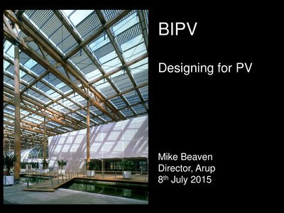 Designing PV for buildings