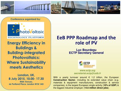 EeB PPP Roadmap and the role of PV