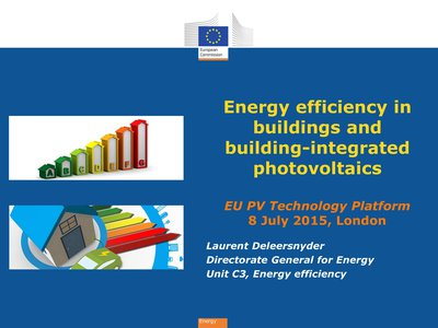 Energy efficiency and BIPV opportunities in Europe