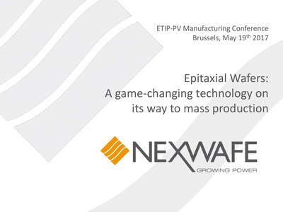 Epitaxial Wafers: A game-changing technology on its way to mass production