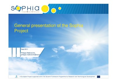 General presentation of the Sophia Project