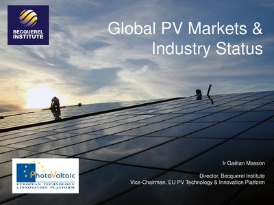 Global PV Market and Industry status
