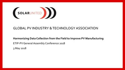 Harmonizing Data Collection from the Field to Improve PV Manufacturing