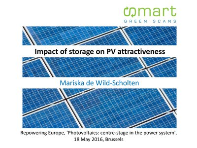 Impact of storage on PV attractiveness