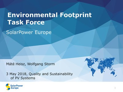 Impact of sustainability initiatives on the European solar value chain