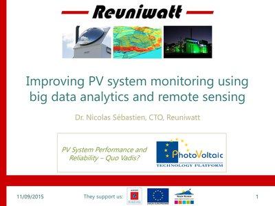 Improving PV System Monitoring Using Big Data Analytics And Remote Sensing