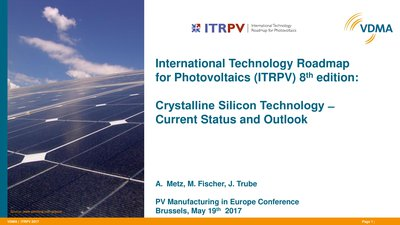 International Technology Roadmap for Photovoltaics (ITRPV)