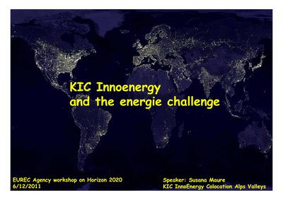 KIC Innoenergy and the energie challenge