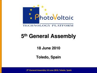 Opening speech by Wim Sinke, Chairman of the EU PV Technology Platform