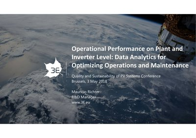 Operational performance on plant and inverter level: data analytics for optimizing operations and maintenance