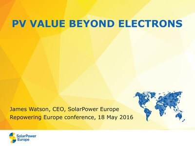 PV value for Europe beyond electrons