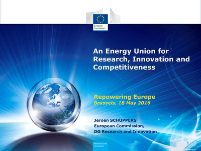 Policy keynote: European Energy Union, EU strategy