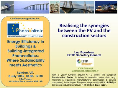 Energy Efficiency in Buildings and Building-integrated Photovoltaics