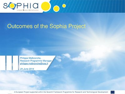 Results of SOPHIA project