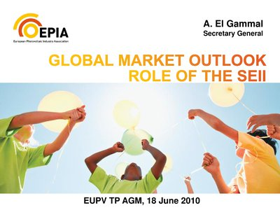 Role of the SEII for the positioning & development of the European PV sector