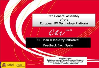 SET-Plan & Industry Initiative: Feedback from Spain