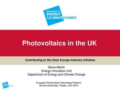 SET-Plan & Industry Initiative: Feedback from UK