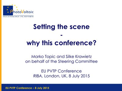 Setting the scene: why this conference?