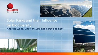 Solar Parks and their Influence on Biodiversity