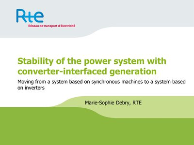Stability of the power system with converter-interfaced generation