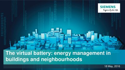 The virtual battery: energy management in buildings and neighbourhoods