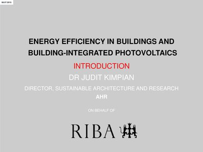Welcome to the RIBA premises