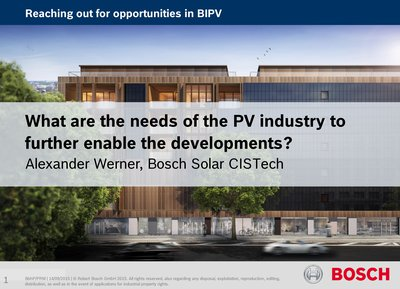 What are the needs of the PV industry to further enable the developments