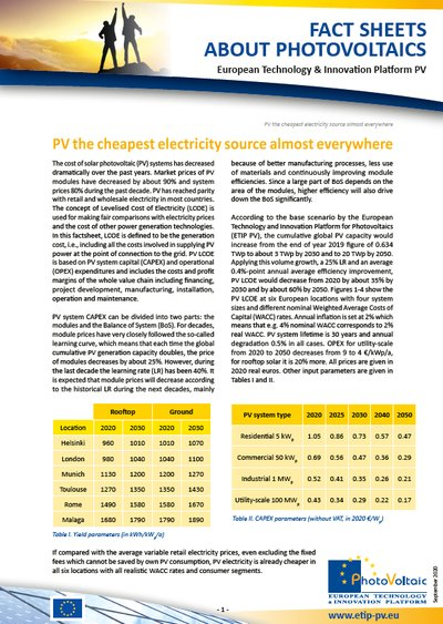 PV the cheapest electricity source almost everywhere (Update September 2020)